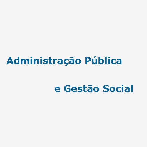 Administração Pública E Gestão Social (APGS)