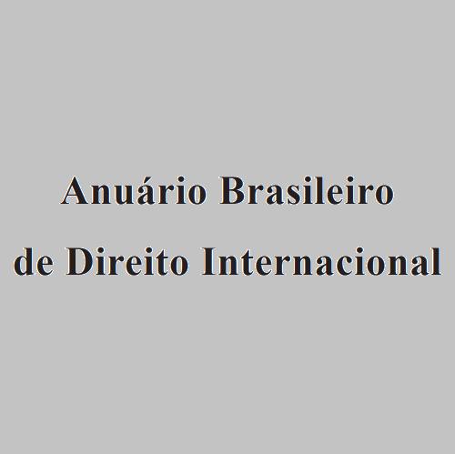 Anuário Brasileiro De Direito Internacional